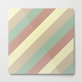 Natural Diagonal Stripe Pattern Metal Print