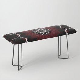 Deep Ruby Red Mandala Design Bench