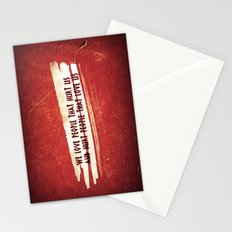 We Love / We Hurt Stationery Cards