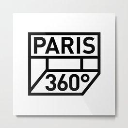 Paris 360° Metal Print