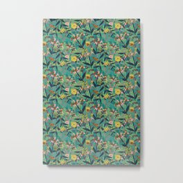 Milkweed and Butterfly Metal Print