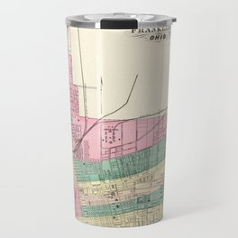 Map of Columbus 1872 Travel Mug