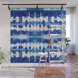 Shibori Tie Dye Indigo Blue Wall Mural