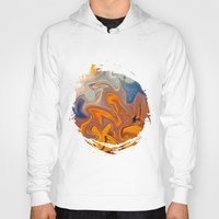 amelie Hoodies featuring SKY ON FIRE by Catspaws