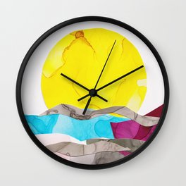 Daiquiri Sunset Wall Clock