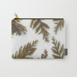 Golden Palm on White Carry-All Pouch
