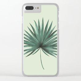 Fan Palm Leaf Clear iPhone Case