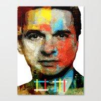 depeche mode Canvas Prints featuring BARREL OF A GUN (Dave Gahan of Depeche Mode) by Art By MOP$