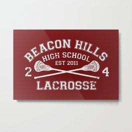 Beacon Hills Lacrosse Metal Print