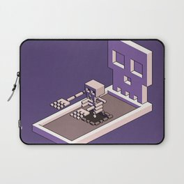 Familiar Face — isometric pixel artwork Laptop Sleeve