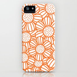 Field of daisies - orange iPhone Case