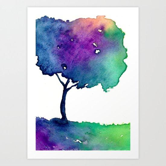 Hue Tree II Art Print