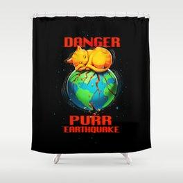 Purr Earthquake Shower Curtain