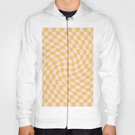 Check I - Yellow Twist — Checkerboard Print Hoody