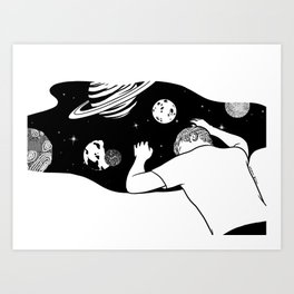 My Universe is Expanding Slowly Art Print