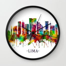 Lima Peru Skyline Wall Clock