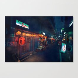 Small streets of Koenji Canvas Print