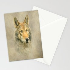 Wolf portrait Stationery Cards
