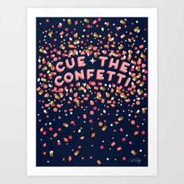 Cue the Confetti – Navy Palette Art Print