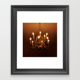 Glowing Chandelier Framed Art Print
