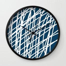 Jumble of thoughts Wall Clock