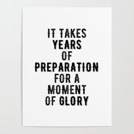 Inspirational -Prepare For Glory Poster