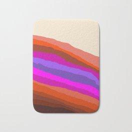 Orange, Purple, and Cream Abstract Bath Mat