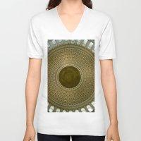 washington dc V-neck T-shirts featuring Looking Up - Capitol Rotunda, Washington DC by David Hohmann