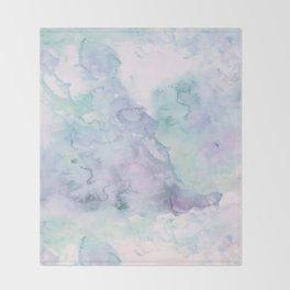 Pastel modern purple lavender hand painted watercolor wash Throw Blanket