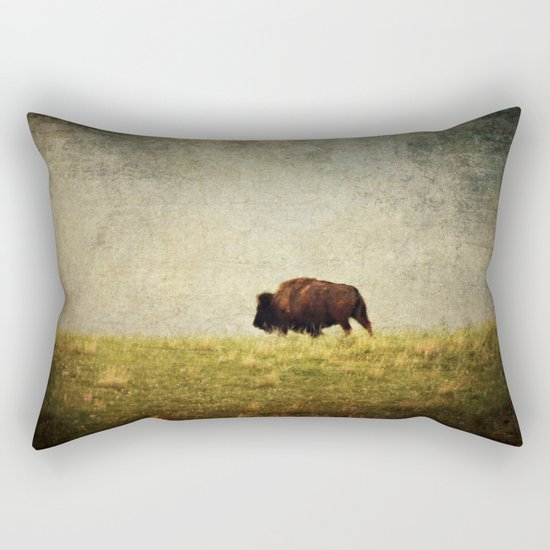 Lone Buffalo Rectangular Pillow