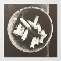 cigarettes Canvas Prints featuring cigarettes by Sushibird