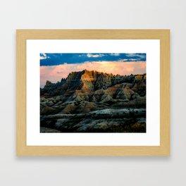 Dragon Mountains Framed Art Print
