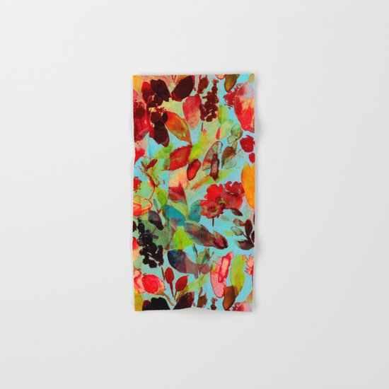 abstract flowers Hand & Bath Towel
