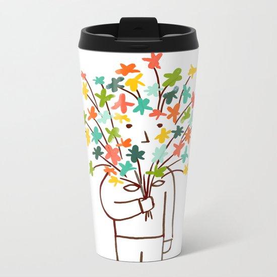 I bring flowers Metal Travel Mug