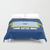 transformers Duvet Covers featuring Soundwave Transformers Minimalist by Jamesy