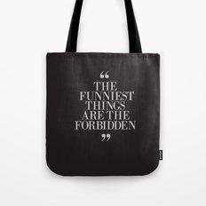 Mark Twain Quote, typography, illustration with Original Signature, Dark Version Tote Bag