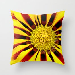 Red and Yellow Daisy Throw Pillow