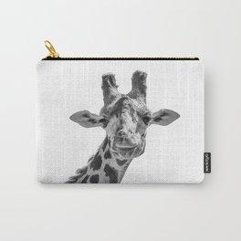 Giraffe | Peek-A-Boo | Animal Photography | Minimalism | Mammal | Wildlife | Nature Carry-All Pouch