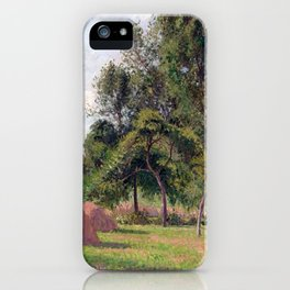 Camille Pissarro Haystacks, Morning, Éragny iPhone Case