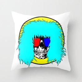Rad Skeleton Throw Pillow