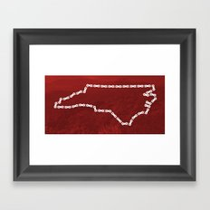 Ride Statewide - North Carolina Framed Art Print