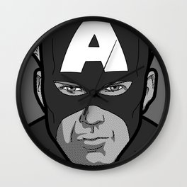The secret life of heroes - Photobooth2-1 Wall Clock