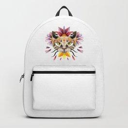 Floral cat portrait Backpack