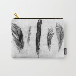 FEATHER ETCHING Carry-All Pouch