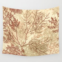 Warm Seaweed Pattern Wall Tapestry