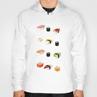 sushi Hoodies featuring Sushi by Skrich