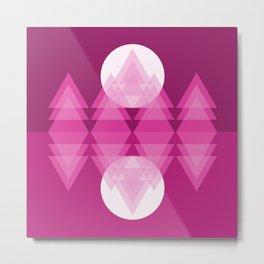 Pink Moon Lake Metal Print