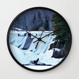 Waterfalls in Winter Wall Clock