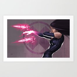 Psylocke Art Print