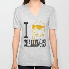 I __ Challenges Unisex V-Neck
